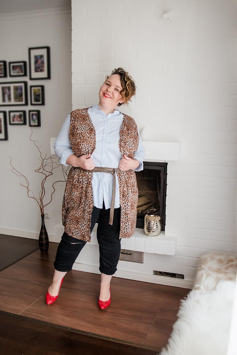 Mode für Mollige - Schnittmuster HACK zur Weste FrauViktoria