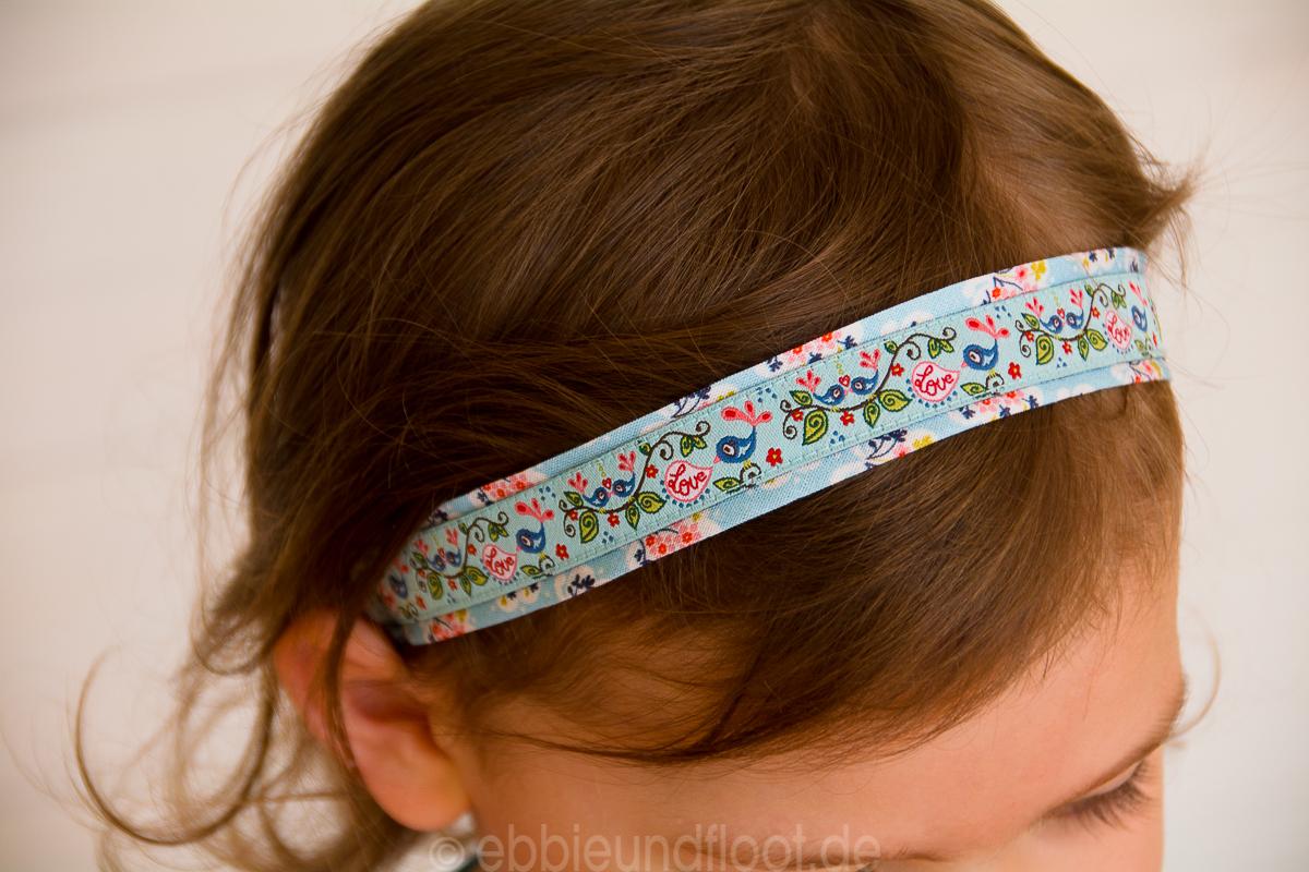kostenlose anleitung schnelles haarband aus webbaendern naehen