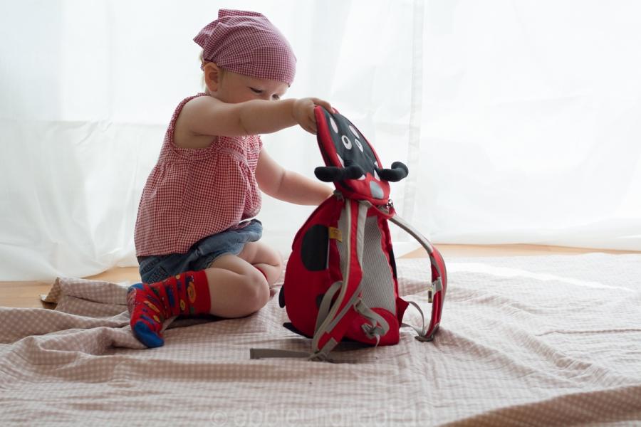 Der Rucksack lässt sich kinderleicht öffnen
