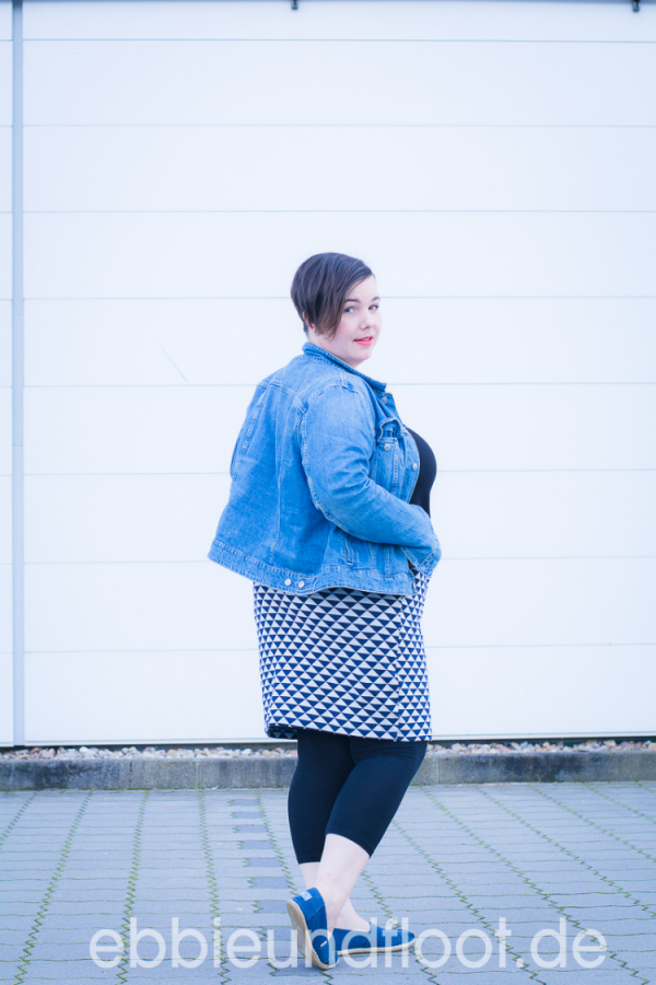 Lässige Jeansjacke Plus Size