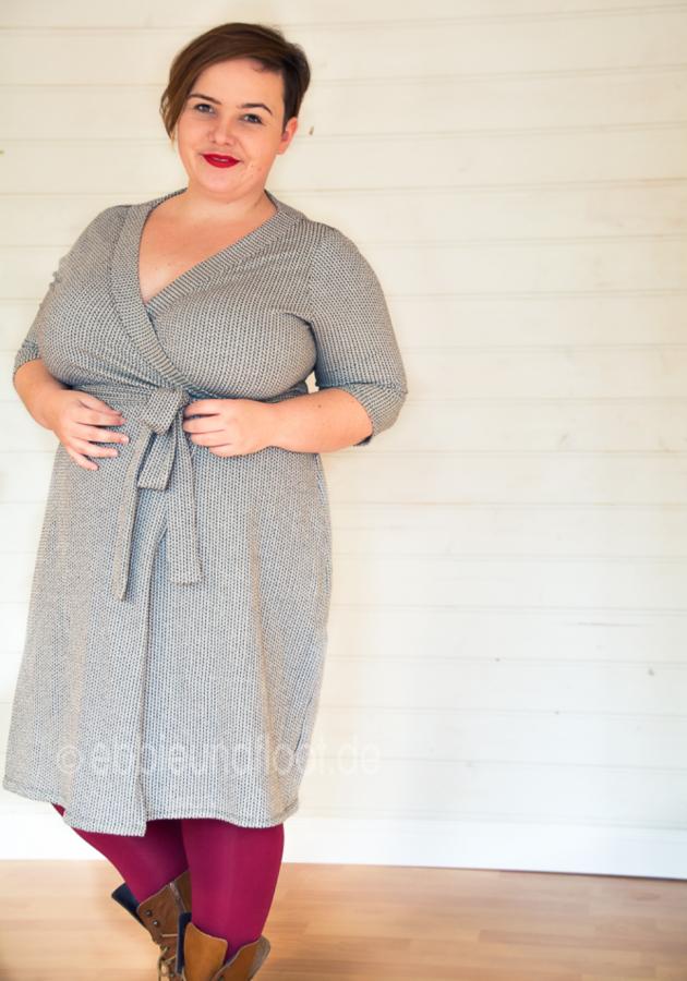 Plus Size Schnittmuster: Wickelkleid - Ein Basic-Kleid für jeden ...