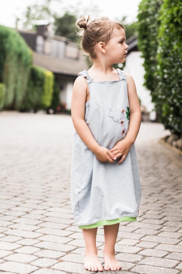 Süßes Kleidchen aus Sweat für Mädchen