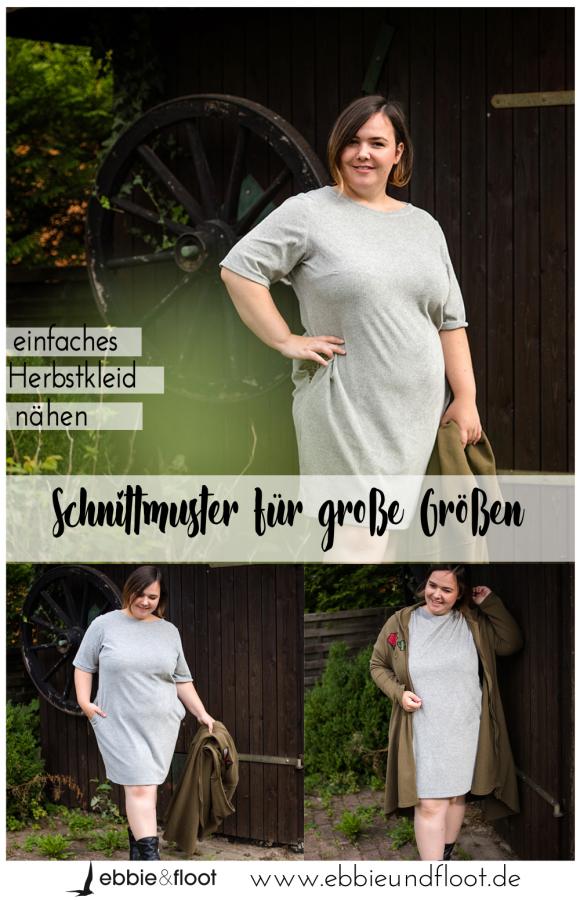 Einfaches Kleid nähen   Schnittmuster für Übergrößen