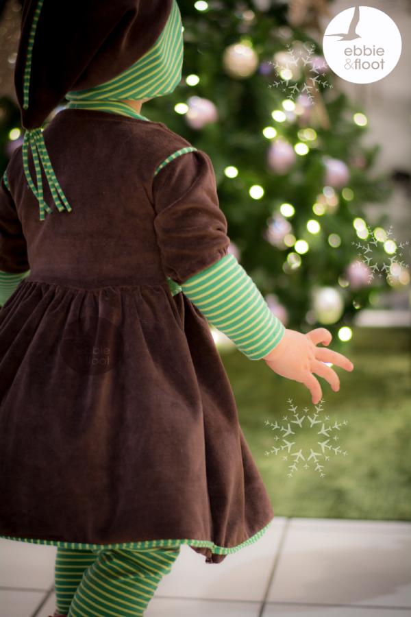 Traumhaftes Weihnachtskleid aus braunem Nicky