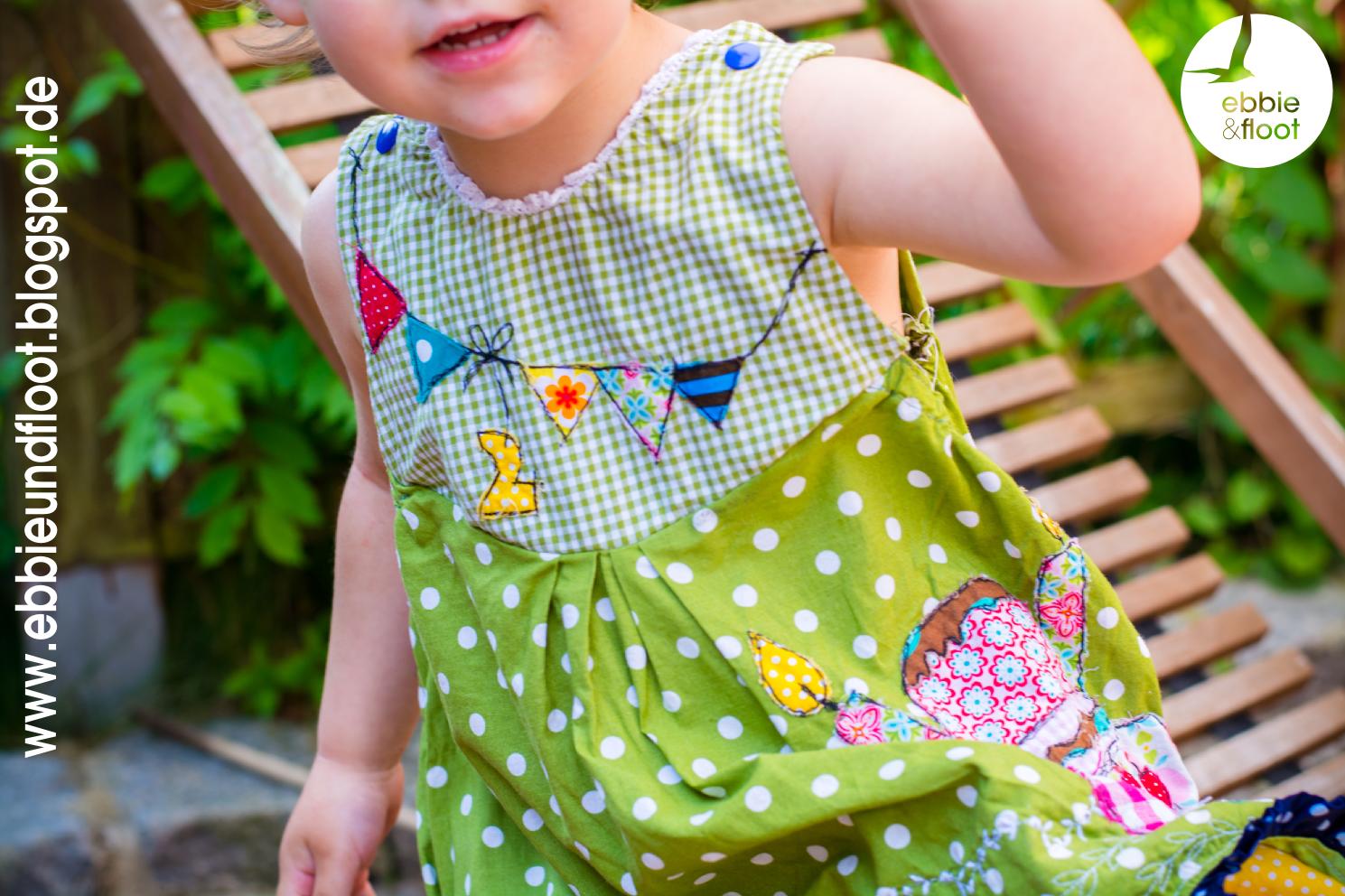 ebbie und floot_farbenmix_Cara_Kleid_Dress_birthday dress_Cake_Ballon_ribbons_ruffels_green_dots_04