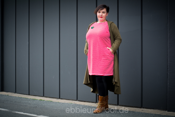 Plus Size Kleid mit Patches