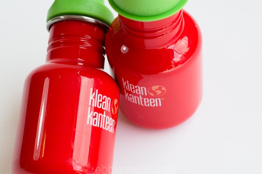 Strahlend rote Kindertrinkflaschen