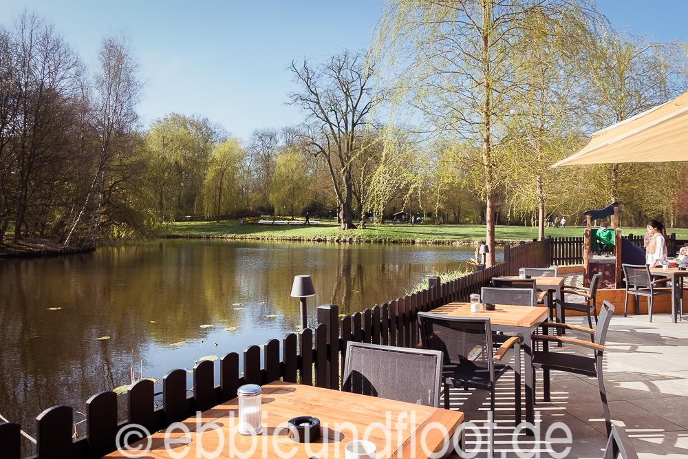 Ausblick vom Eiscafé im Bürgerpark in Bremen