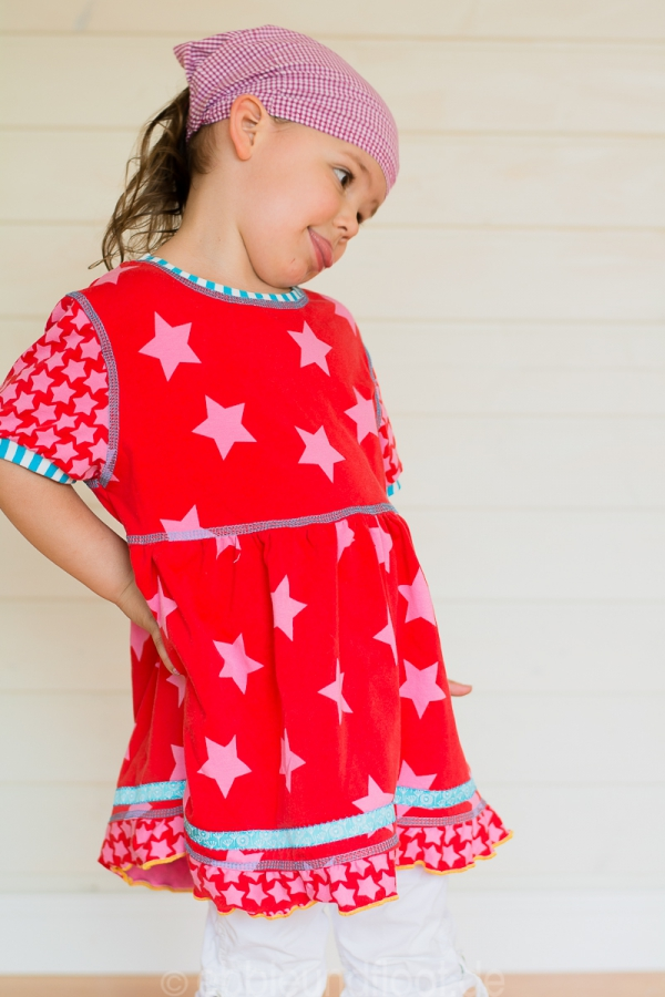 Ein lockeres, sommerliches Jerseykleid